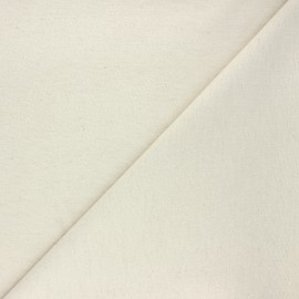 Lurex linen cotton fabric - beige Alma x 10cm