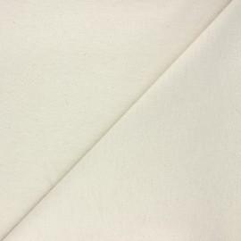 Tissu coton lin lurex - beige x 10cm