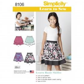 Patron jupe Enfant - Simplicity n°S106