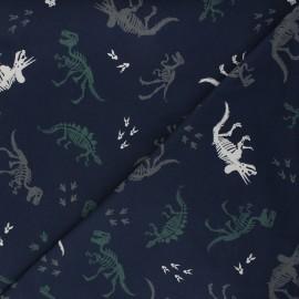 Printed Jersey fabric - night blue Dino fossil x 10cm