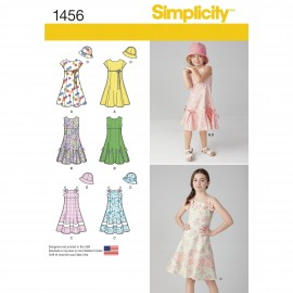 Dress sewing Pattern for Children - Simplicity n°1456
