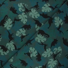 Printed Jersey fabric - pine green Shadow dino x 10cm