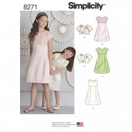 Patron robe et boléro Enfant - Simplicity n°8271