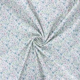 Cotton poplin fabric - sarcelle Albane x 10cm