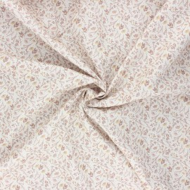 Cotton poplin fabric - sand Albane x 10cm