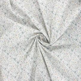 Cotton poplin fabric - grey Albane x 10cm