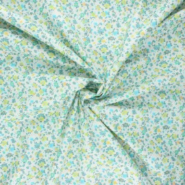 Cotton poplin fabric - green Dorianne x 10cm