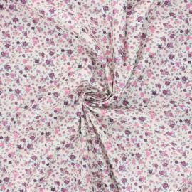 Cotton poplin fabric - pink Dorianne x 10cm