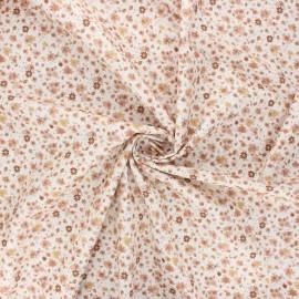 Cotton poplin fabric - sand Dorianne x 10cm