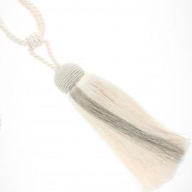 Pompom curtain tieback - cream Arsène