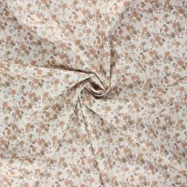 Cotton poplin fabric - sand Méline x 10cm