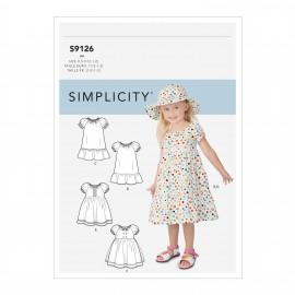 Patron bébé robe manches ballon - Simplicity n°S9126