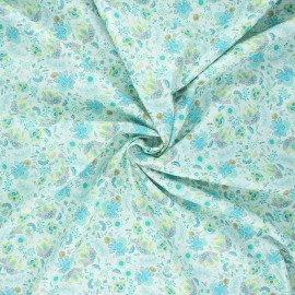 Cotton poplin fabric - green Elaia x 10cm
