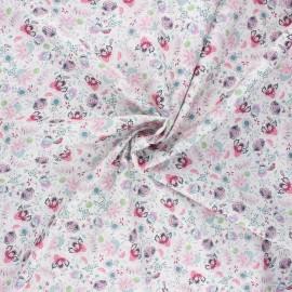 Cotton poplin fabric - pink Elaia x 10cm