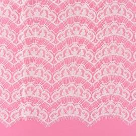 Tissu dentelle de Calais® Brunelle - ivoire x 10cm