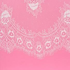 28 cm ribbon lace of Calais® fabric - ivory Caudélie x 50cm