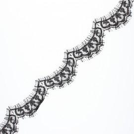 25 mm ribbon lace of Calais® fabric - black Brunelle x 50cm