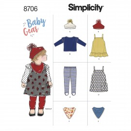 All in one sewing pattern for baby - Simplicity n°8706