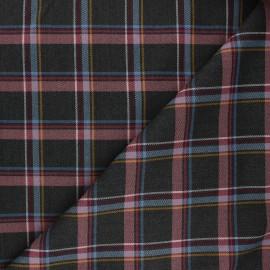 Polyviscose elastane fabric - dark grey Portree x 10cm
