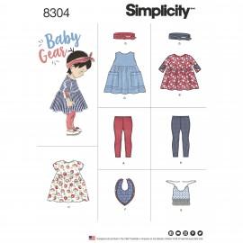 Patron ensemble robe enfant - Simplicity n°8304