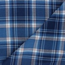 Tartan fabric - navy blue Elgin x 10cm
