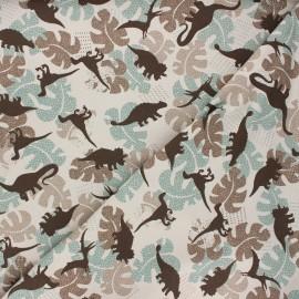 Printed Jersey fabric - sand Shadow dino x 10cm