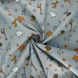 Cotton poplin fabric - light grey Mini savane x 10cm