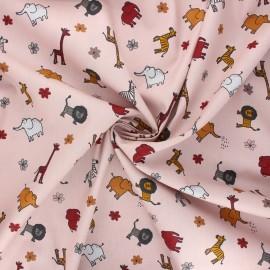 Cotton poplin fabric - light pink Mini savane x 10cm