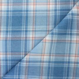 Tissu tartan Elgin - bleu clair x 10cm