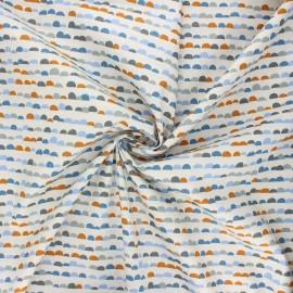 Cotton poplin fabric - ivory Hillside x 10cm