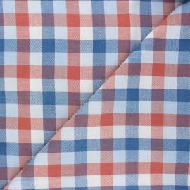 Tissu coton sergé Manchester - bleu clair x 10cm