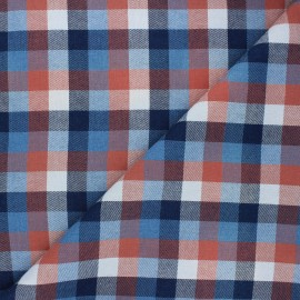 Tissu coton sergé Manchester - bleu marine x 10cm