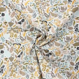 Tissu popeline de coton Sylvestre - jaune moutarde x 10cm