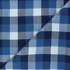 Tissu coton sergé William - bleu marine x 10cm