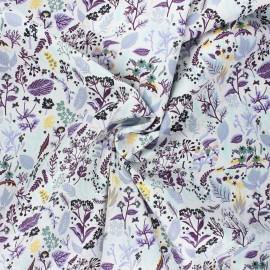 Tissu popeline de coton Sylvestre - violet x 10cm