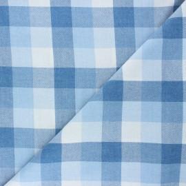 Tissu coton sergé William - bleu clair x 10cm