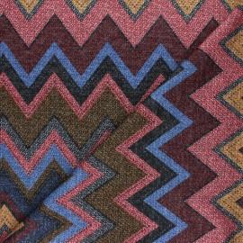 Tissu maille viscose lurex Chevrons - rouge x 10cm