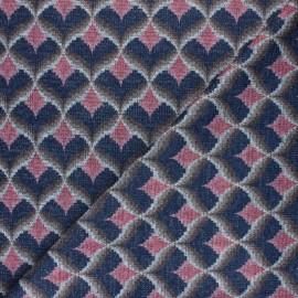 Lurex viscose knit fabric - pink Elvira x 10cm
