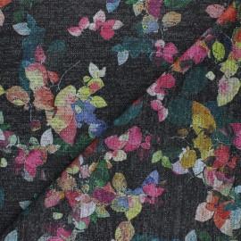 Lurex viscose knit fabric - dark grey Caudélie x 10cm