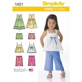 All in one dress sewing pattern for baby - Simplicity n°1451