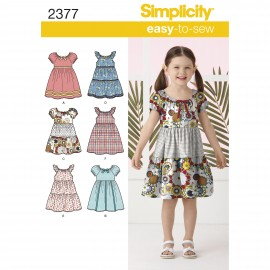 Dress sewing pattern for children - Simplicity n°2377
