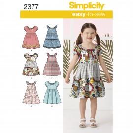 Patron robe enfant - Simplicity n°2377
