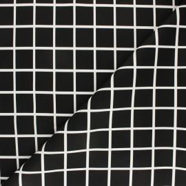 Imitation leather fabric - black Losas x 10cm