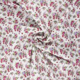Tissu popeline de coton Happy spring - bordeaux x 10cm