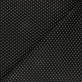 Imitation leather fabric - black Fiori x 10cm
