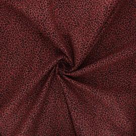 Cotton poplin fabric - red brick Cheetah x 10cm