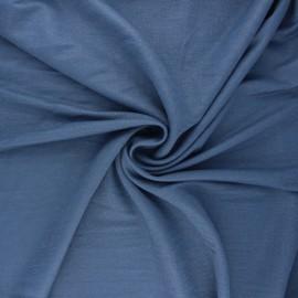 Tissu piqué viscose lurex - bleu houle x 10cm