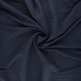 Tissu piqué viscose lurex - bleu nuit x 10cm