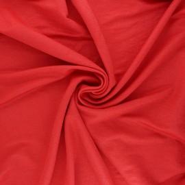 Tissu piqué viscose lurex - rouge x 10cm
