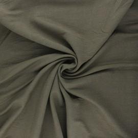 Tissu piqué viscose lurex - kaki x 10cm